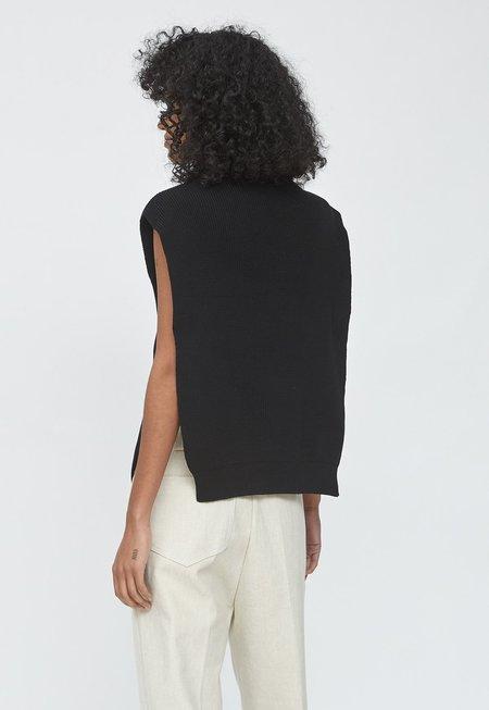 LE17SEPTEMBRE Cotton Mockneck Vest - Black