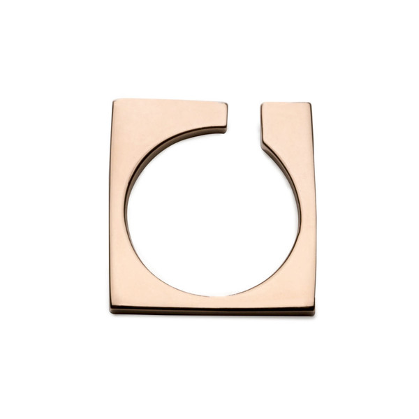 AGMES Thin Open Block Ring