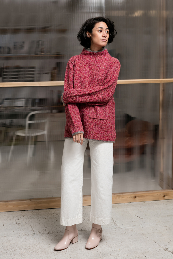 Creatures of Comfort Stand Up Neck Sweater - pink
