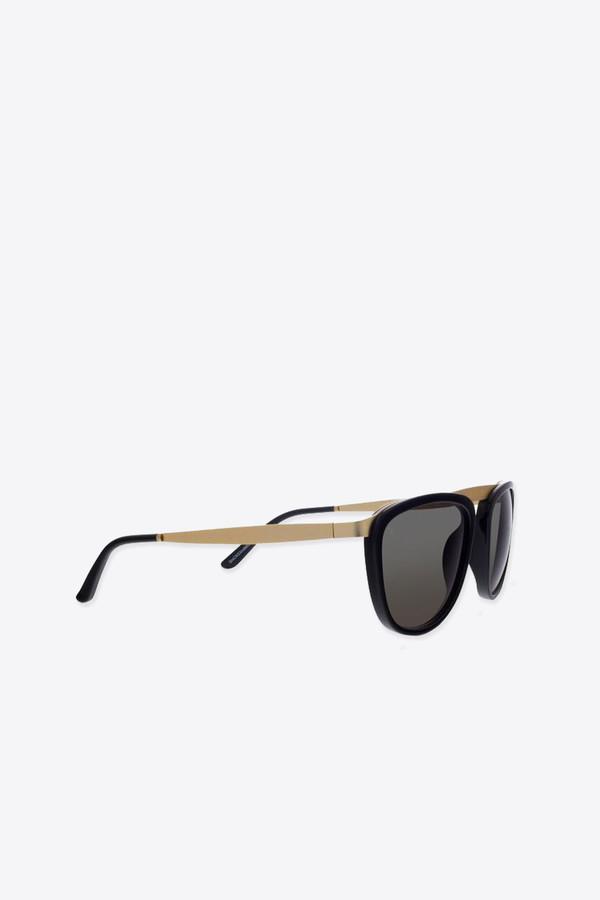 Men's Smoke x Mirrors Pusherman sunglasses in black/matte gold