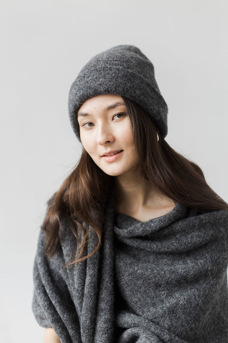 Bare Knitwear Andes Beanie - Dark Charcoal