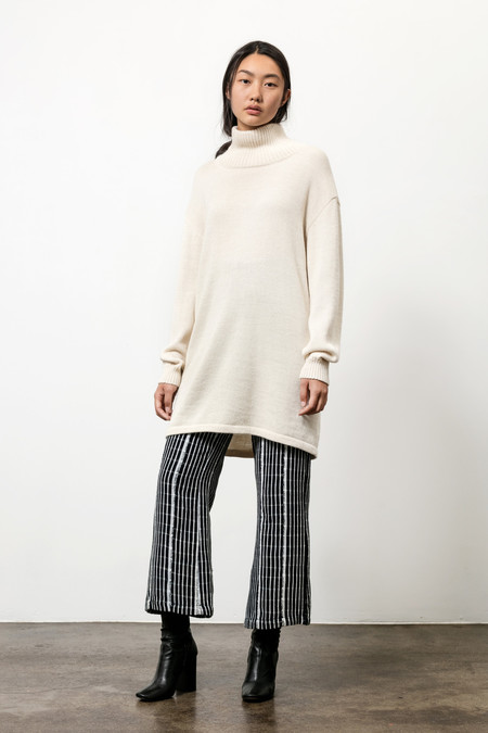 Osei-Duro Alpaca Turtleneck Tunic in Cream