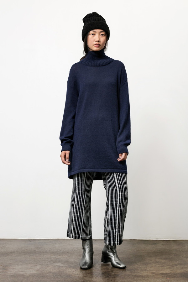 Osei-Duro Alpaca Turtneck Tunic in Navy