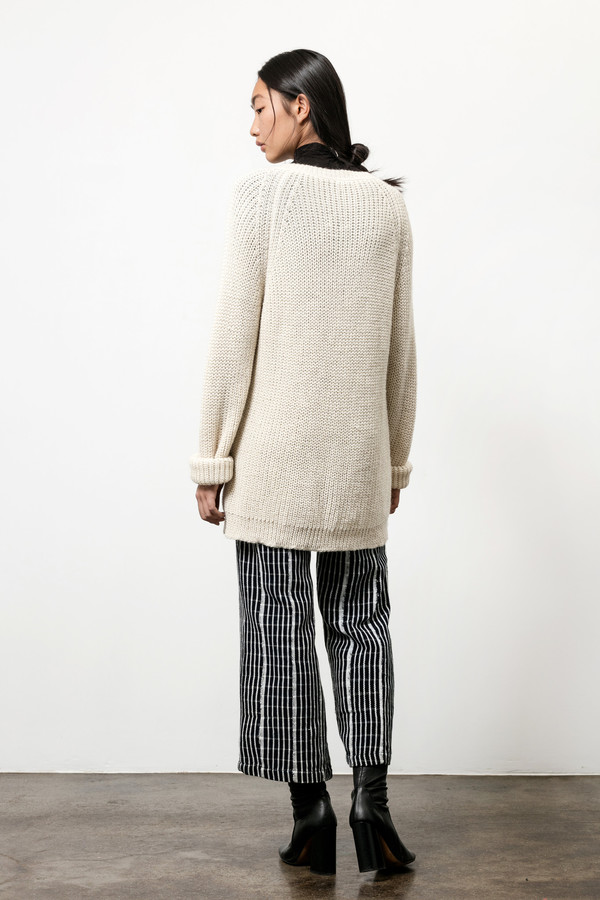 Osei-Duro Base Alpaca Pullover in Cream