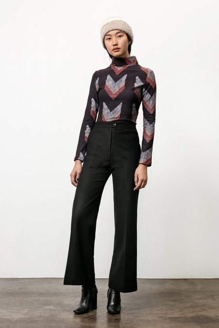 Osei-Duro Kendo Turtleneck Top - Chevrons