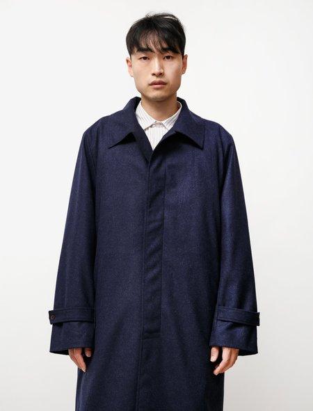 Frank Leder Loden Wool Overcoat - blue