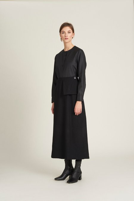 we.re Wraparound skirt - black