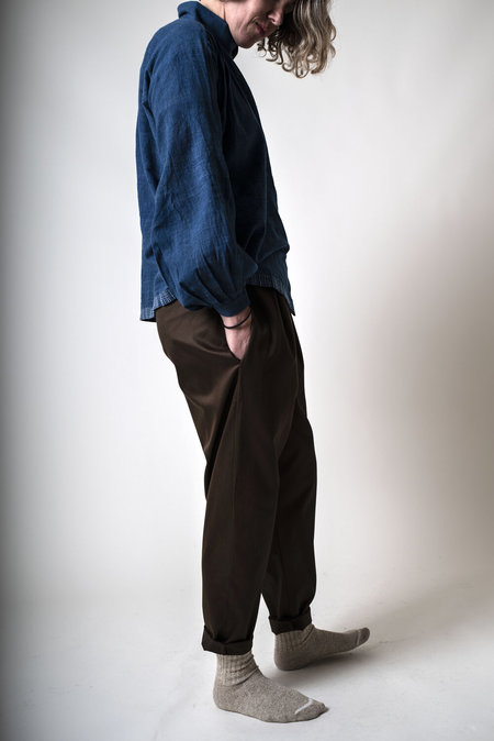 Fold Elasticated Pants - Chocolate