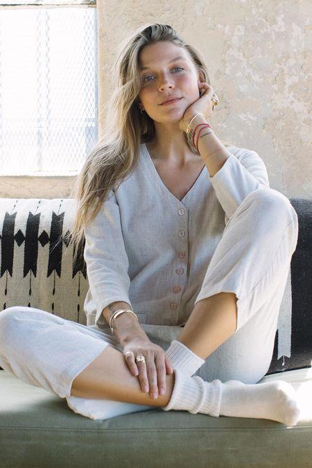 Rachel Pally Linen Troy Jumpsuit - Natural