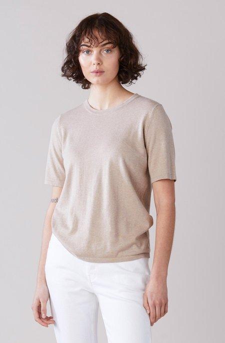 Laing Home Jacques Cotton/Cashmere T-shirt - Sand