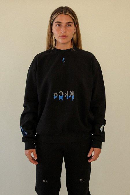 Kk Co Studio Drip Crewneck Sweatshirt - Black
