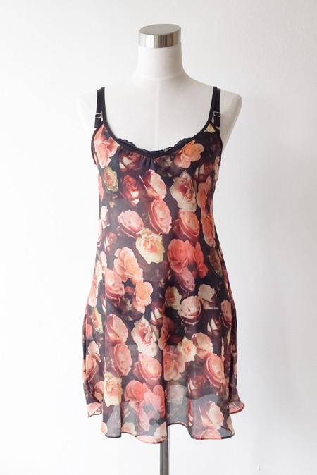 Salua Lingerie Emma Cotton-Silk Printed Chemise