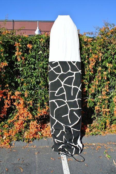 Thread Spun MALI 9'6 SURFBOARD BAG - Black/White