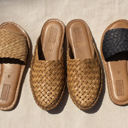 Mohinders Woven Leather Slides