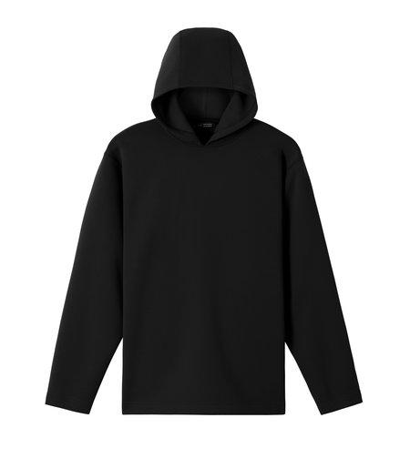 Wings+Horns Ponti Structured Hoodie Jersey - Black