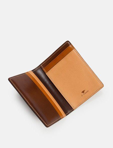 Il Bussetto Leather Bi-Fold Wallet - Multi Brown