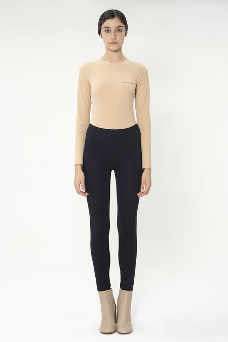 MM6 Maison Margiela Logo Print Leggings - Black