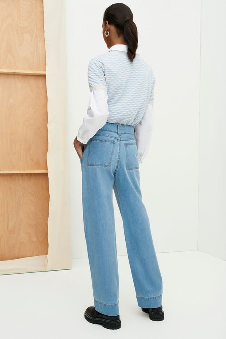 Kowtow Carpenter Jeans - pale blue denim