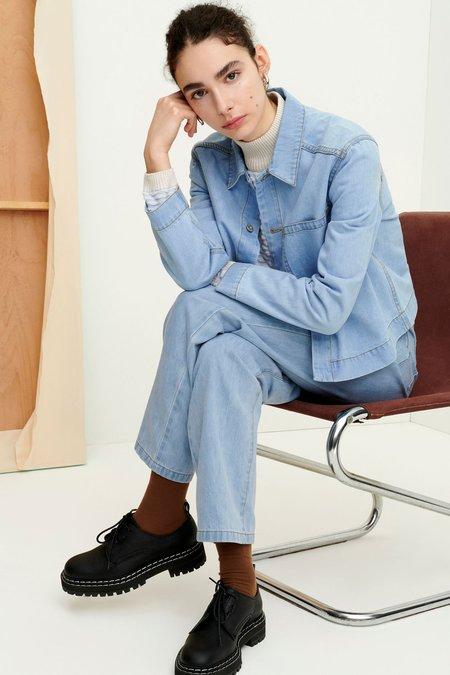 Kowtow Direction Jacket - pale blue denim