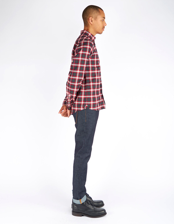 Men's Fjallraven Stig Flannel Shirt Ox Red