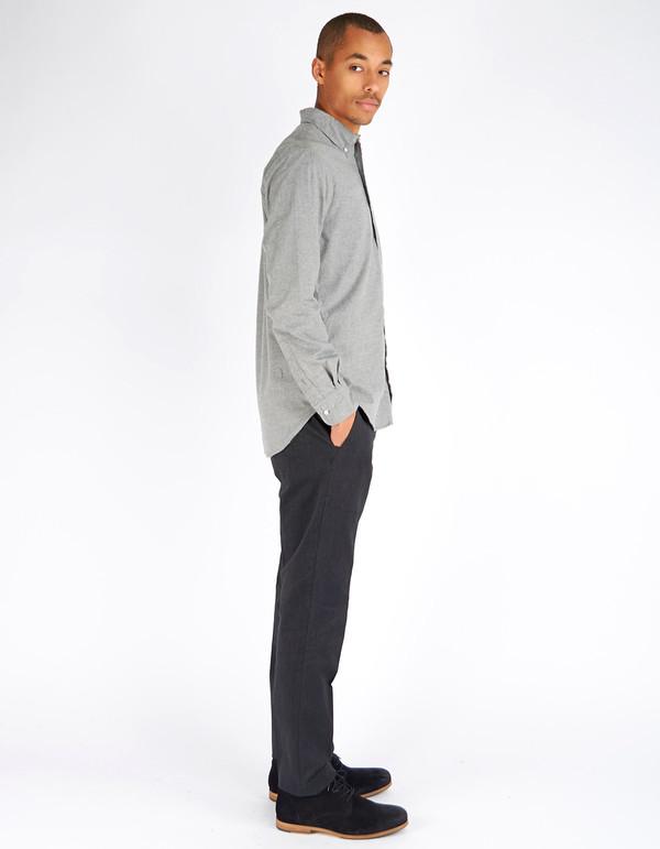 Gitman Vintage Button Down Grey Flannel