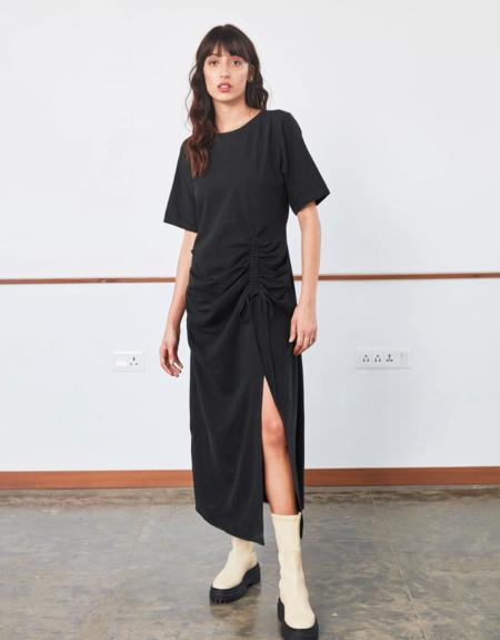 RUJUTA SHETH Drawstring Dress - Black