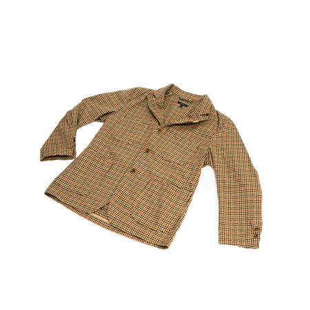 Engineered Garments NB Jacket - Tan/Orange Wool Big Gunclub Check