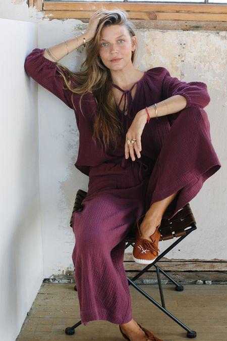 Rachel Pally Gauze Sabrina Top - Port