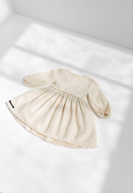 KIDS LITTLE CREATIVE FACTORY VERSE DRESS - CREAM
