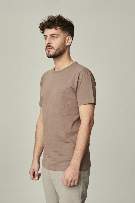 delikatessen Short Sleeve Japanese Organic Cotton T-Shirt - Taupe