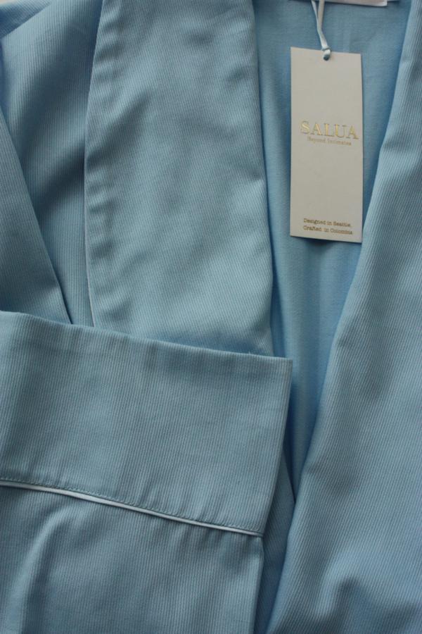 "Salua Classic Cotton Pique Robe 39"""