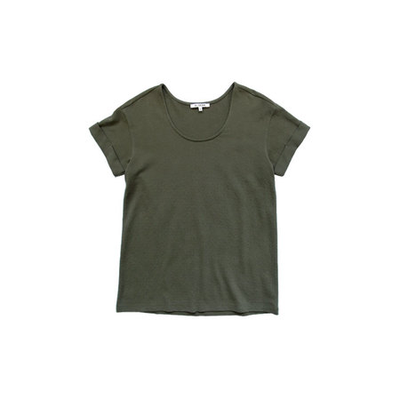 Ali Golden ROLL-SLEEVE T-SHIRT - OLIVE