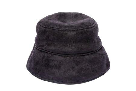 Clyde Reversible Shearling Bucket Hat - Black/Grey