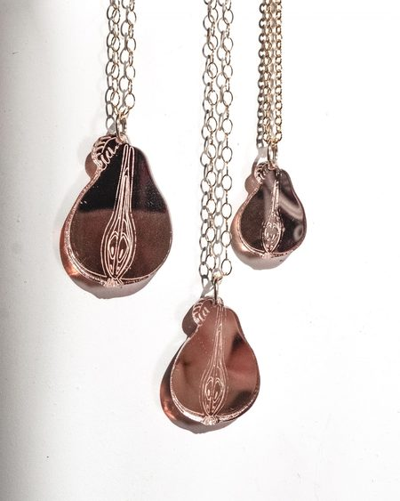Fool's Gold femina necklace - rose gold