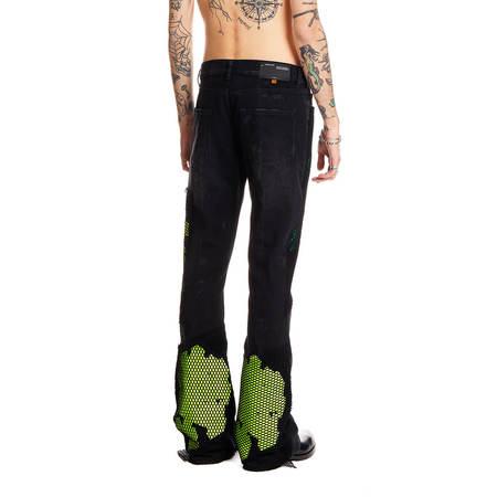 OFF-WHITE EV skinny stacked jeans - black