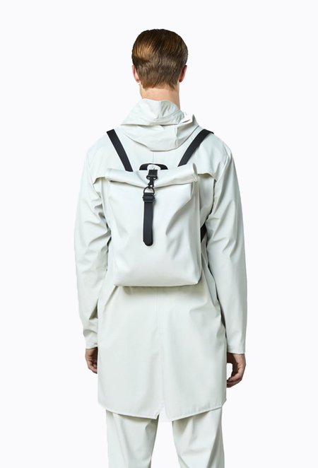 Rains Rolltop Mini Backpack - Off White