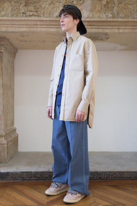 Lanvin Oversized Skate Chest Pocket Shirt - Khaki