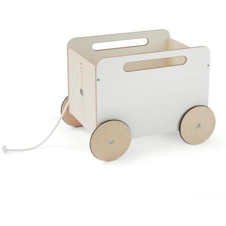KIDS ooh noo toy chest on wheels toy - white