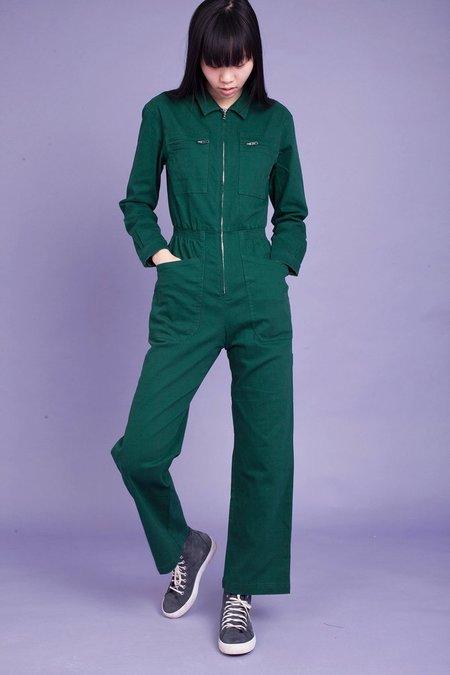 L.F.Markey Danny Longsleeve Boilersuit - Forest Green