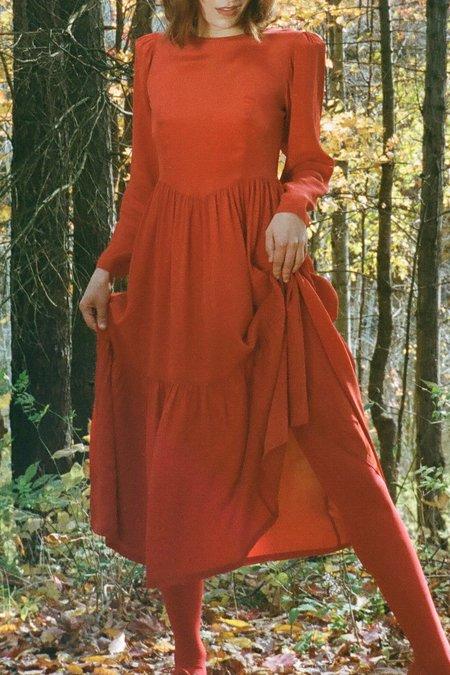 Samantha Pleet Ophelia Dress - Crimson