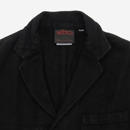 Vetra Workwear Blazer Cotton/Linen Herringbone Jacket - Black