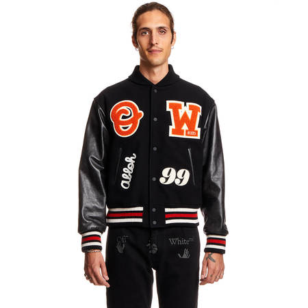 OFF-WHITE Barrel Varsity Jacket