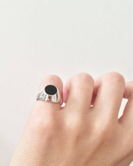 SUAI Onyx Signet ring - Sterling silver