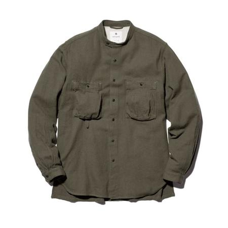 Snow Peak Cotton Silk Serge Shirt - Khaki