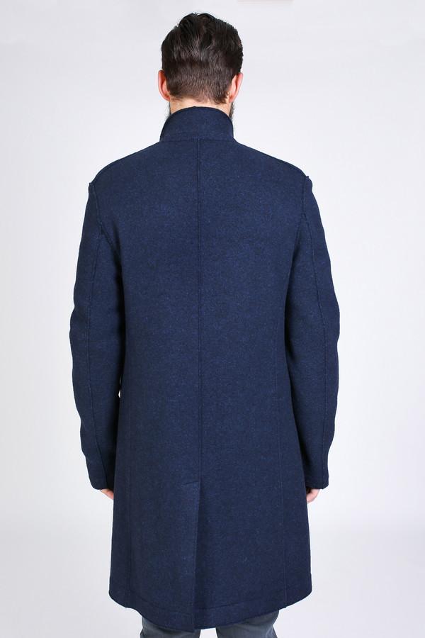 Men's Harris Wharf London Boxy Coat in Navy Blue