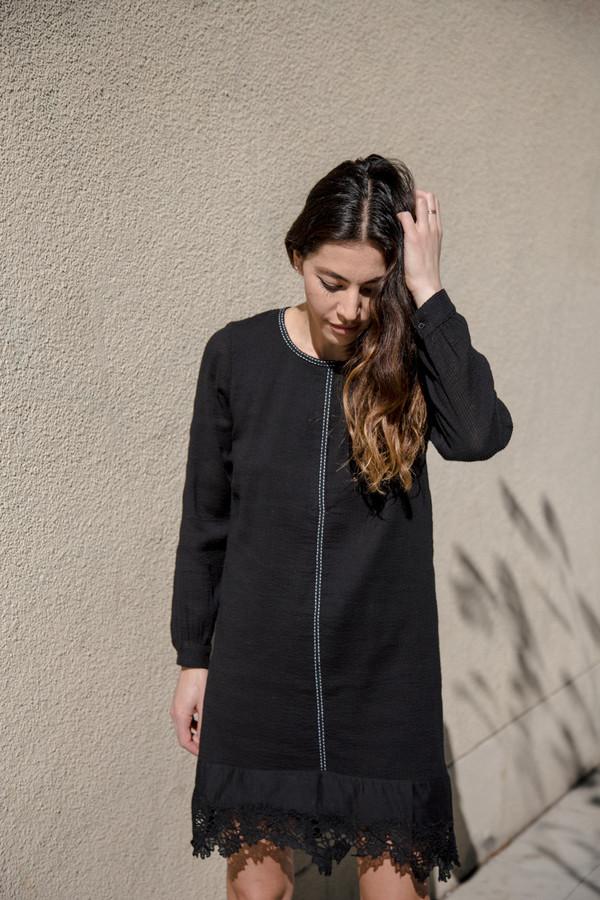 flannel amouage shift dress