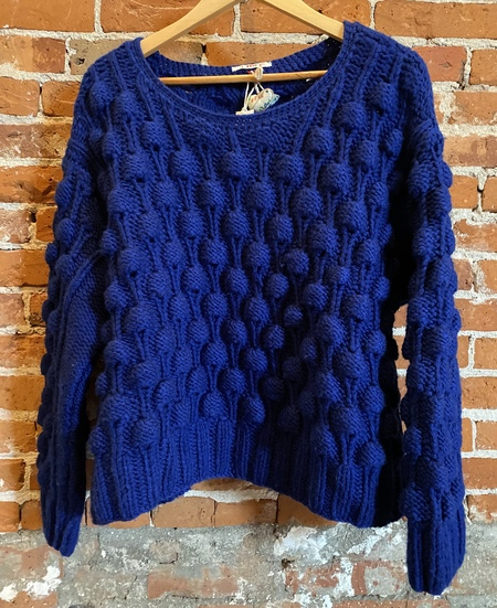 Pero Hand knit sweater - blue