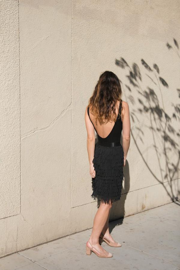flannel eleanor fringe skirt