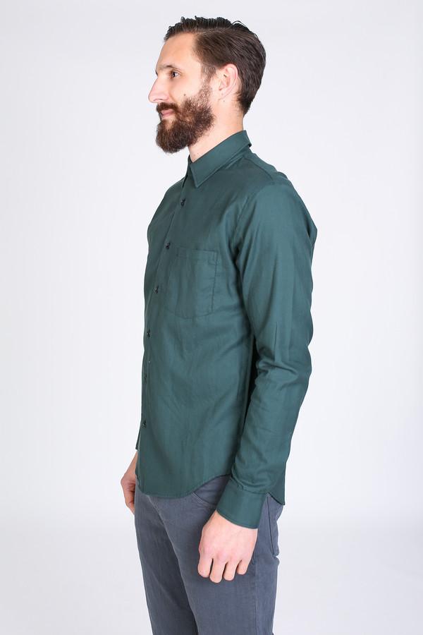 Men's Steven Alan Outseam Shirt in Forest
