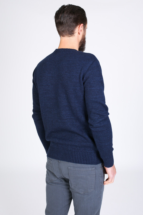 Men's Oliver Spencer Shapes Crew in Navy